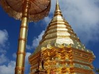 Pagoda - Nel tempio buddista di Wat Doi Suthep Phrathat a Chiang Mai (Thailandia)