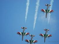 Frecce tricolore - Esibizione della pattuglia acrobatica dell'areonautica sul golfo di Follonica