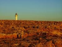Cap de Barbaria - All'orizzonte spunta il faro sulla punta occidentale di Formentera