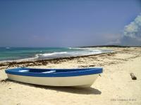 Cozumel - Spiaggia isolata di una piccola isola messicana
