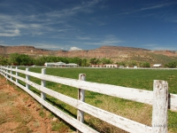 Ranch - Caratteristica recinzione di una fattoria americana (California)