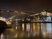 Douro e Luis I di notte